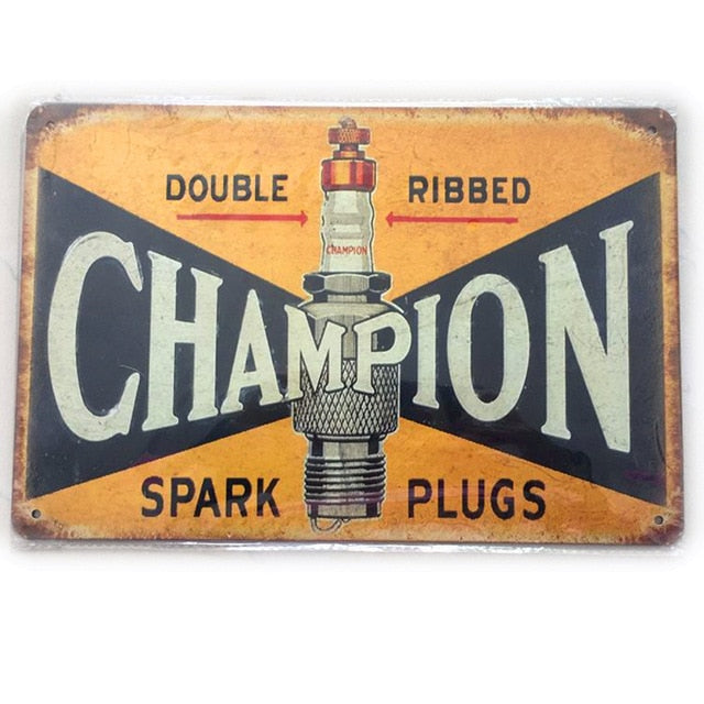Motor Oil Plaque Vintage Metal Tin Signs