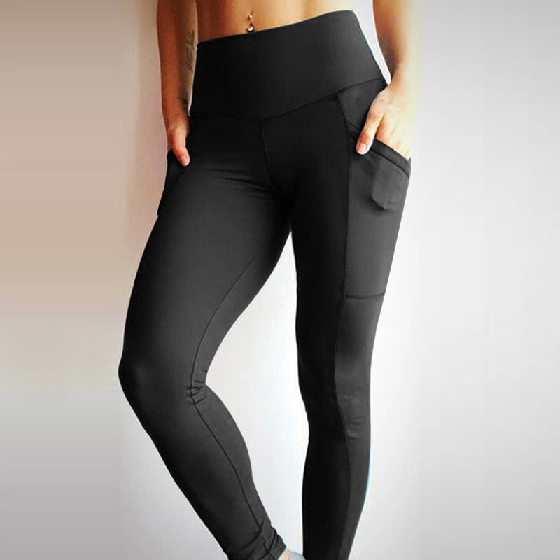 Women's High Waist Push-Up Fitness Leggings with Pockets