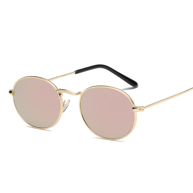 Pink Round Oval Sunglasses Women