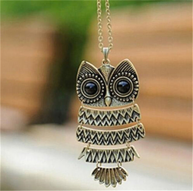 Necklace | Jewelry | Crystal | Pendant | Animal | Charm | Chain | Women | Black | Long