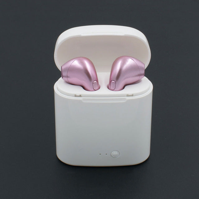 Gold Wireless Bluetooth Earbuds with Charge Box