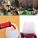 4 Piece Set Silicone Wine Glasses Unbreakable Outdoor Cups