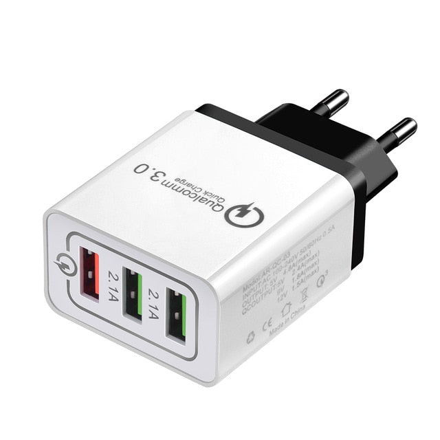 Universal 3-Port USB Quick Charging Outlet Adapter