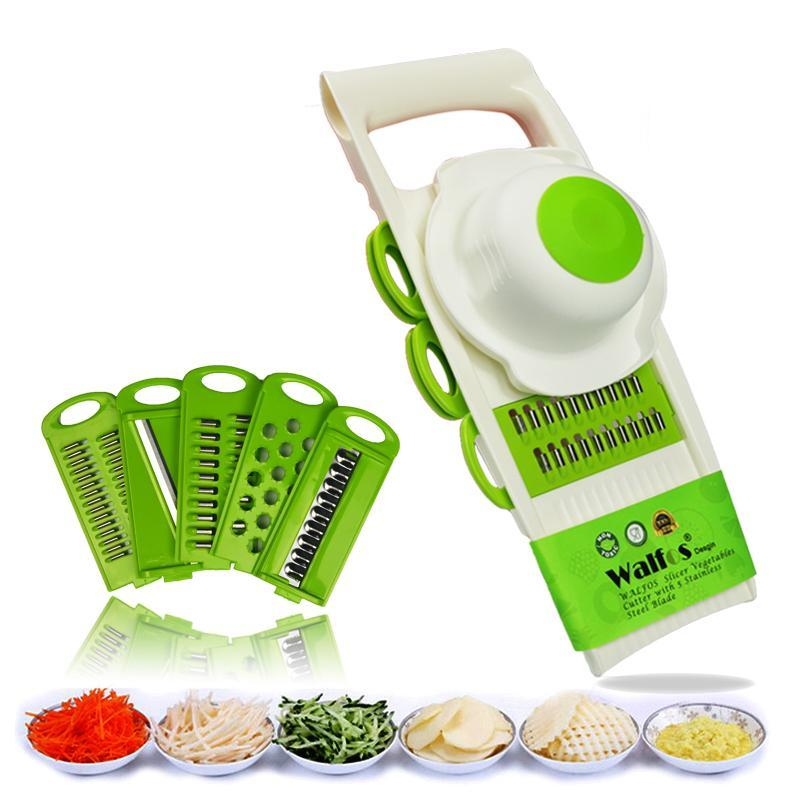 $49.01 off Creative 5-in-1 Adjustable Mandoline Vegetable Fruit Slicer Dicer Chopper Grater Kitchen Set Was: $60.99 Now: $11.98 Plus Free Shipping.