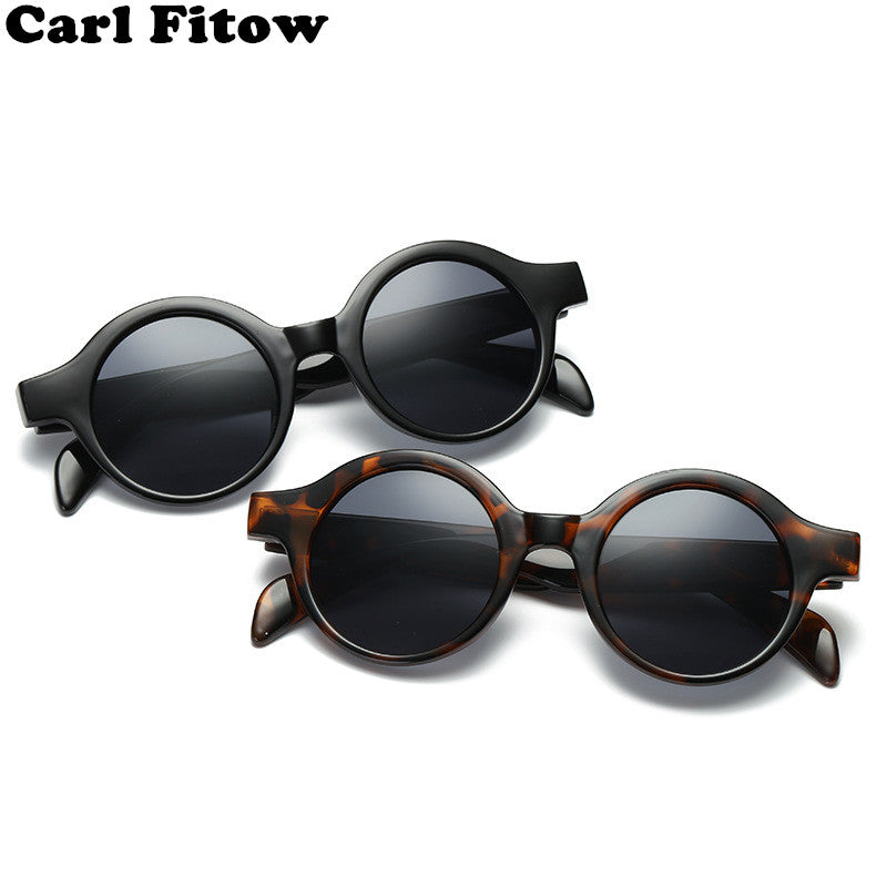 Retro Small Round Sunglasses Women Men Fashion Vintage Brand Sun Glasses Black White Leopard Red Sunglass UV400