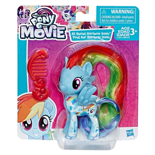 Hasbro My Little Pony Movie Toy Friendship is Magic Rainbow Pie Lyra Heartstring Rarity PVC Action Figure Collectible Model Doll