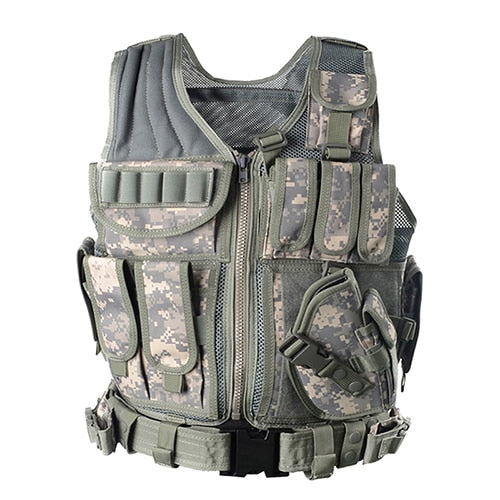 Tactical Military Combat Vest with Equipment Pockets
