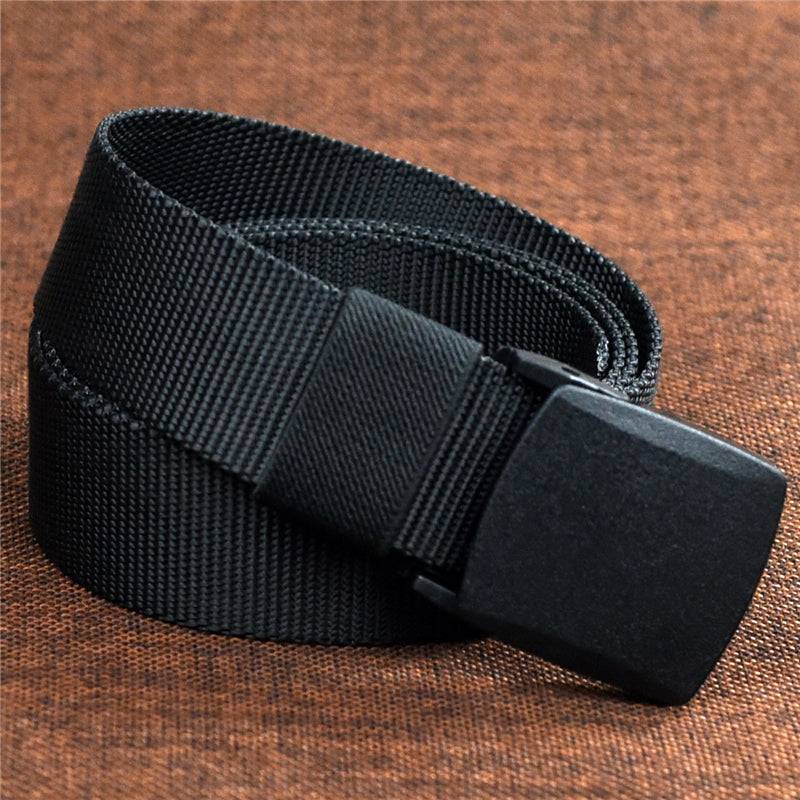 Men's Nylon Military Canvas Tactical Automatic Buckle Belt