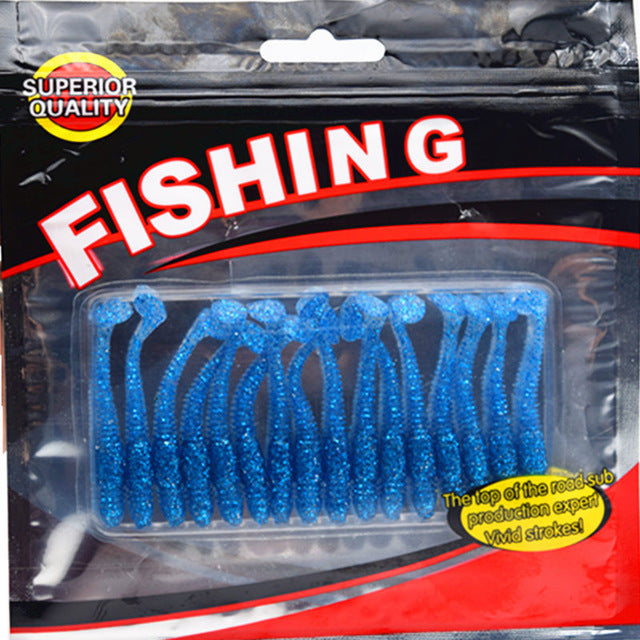 16 Pack: Soft Bait Artificial Fishing Lure Worms - 5cm