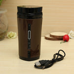 Portable Automatic Stir Heating Travel Mug