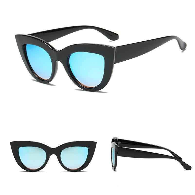 Women's Tinted Cat Eye Vintage Designer Sunglasses