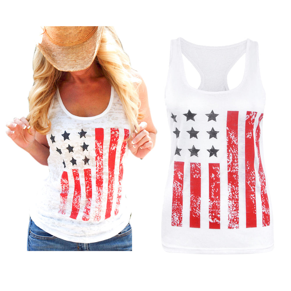 Women T-Shirt American Flag Star Striped Print O-Neck Short Sleeve Independence Day Top Female Shirt Girl Tops Casual Tees