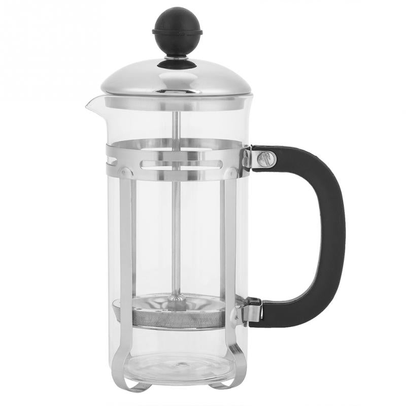 350ml Stainless Steel Glass Hollow Cafetiere French Filter Tea Coffee Pot Press Plunger