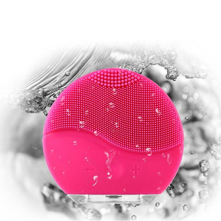 Electric Silicone Sonic Vibration Facial Pore Cleansing Brush