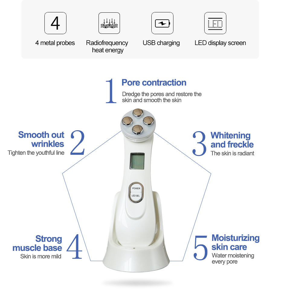 Electric LED Photon Mesotherapy Facial Skin Rejuvenator