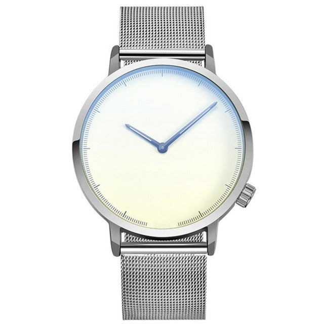 Men's Simplistic Big Dial Stainless Steel Classic Business Watch
