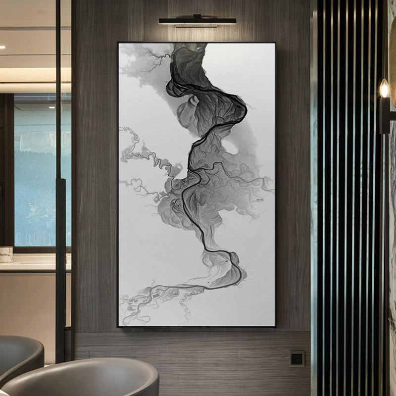 Modern Abstract painting Chinese style Splash ink Wall Art Pictures black and white For Living Room Study Canvas painting HD LSY