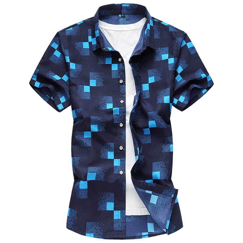 Men's Casual Slim Fit Short Sleeve Shirt