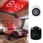 LCD Projection LED Display Time Digital Alarm Clock