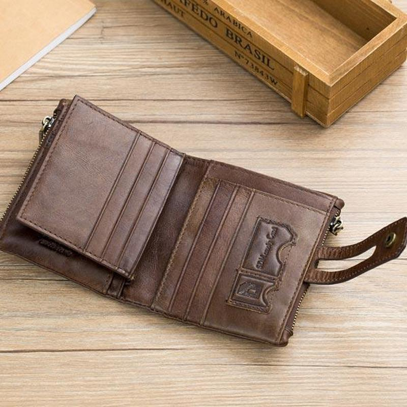 Men's Vintage Leather 14 Card Slot RFID Protection Wallet