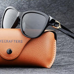 Women's Elegant Cat Eye Polarized Sunglasses with Free Carry Case