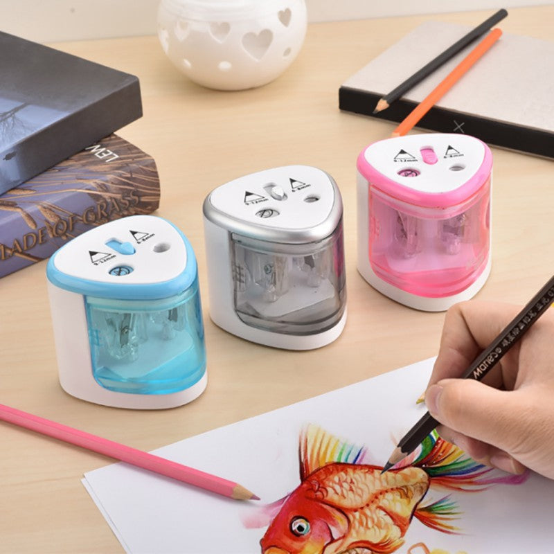 Double Hole Electric Pencil Sharpener