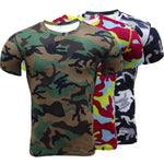 Men's 3D Camo Print Compression Crossfit T-Shirt