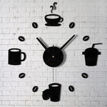 Modern Home Coffee Themed Wall Clock