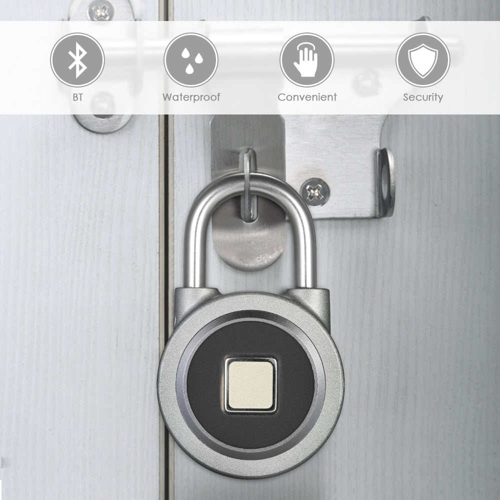 Smart Fingerprint Scan Keyless Padlock with APP