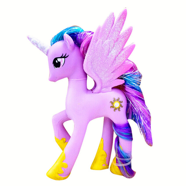 14cm Hasbro My Little Pony Toys Friendship is Magic Pop Pinkie Pie Rainbow series Pony PVC Action Figures Colletion Model Dolls