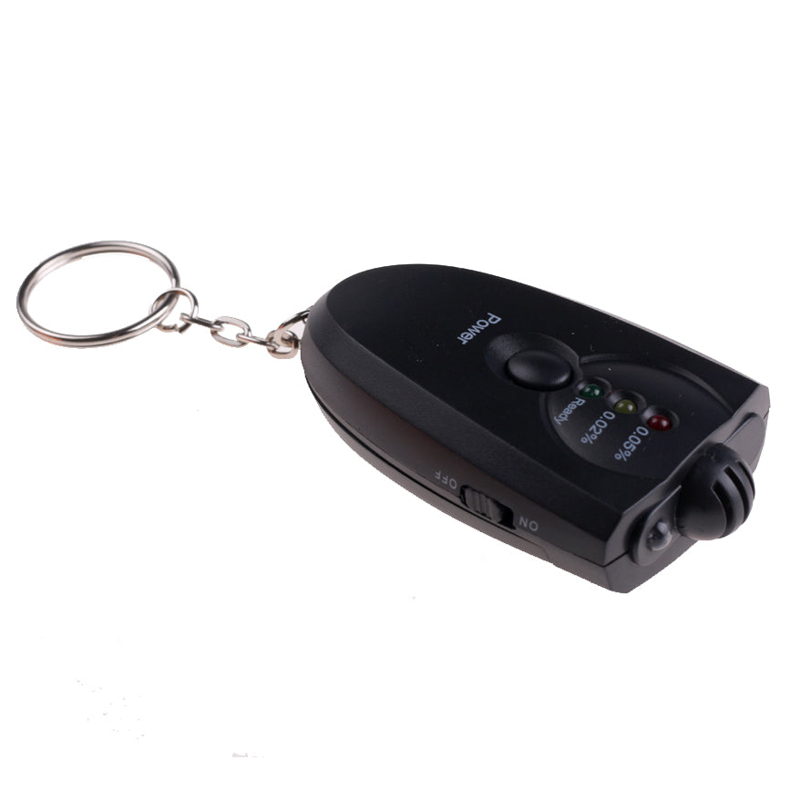 Mini Portable Keychain LED Alcohol Breathalyzer