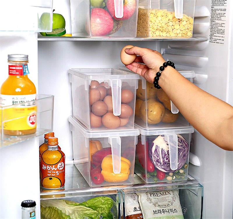 Transparent Kitchen Refrigerator Storage Boxes