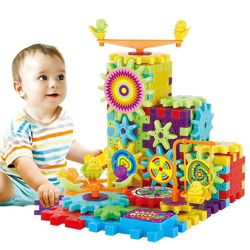 Educational 3D Gears Playground Building Block Set - 81 Pieces