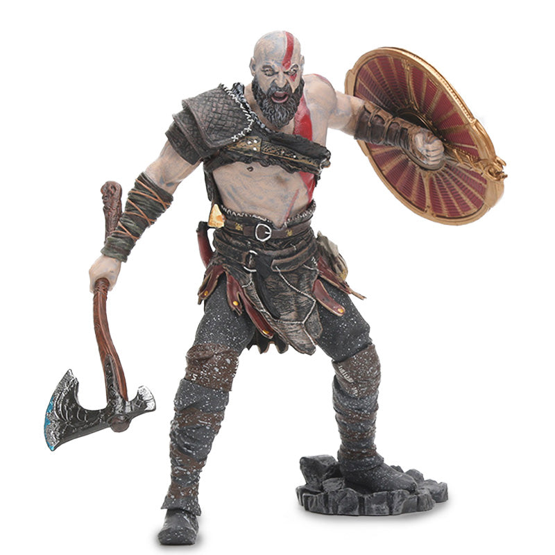 "18cm NECA Toys Game God of War 4 Kratos PVC Action Figure Ghost of Sparta Kratos Collectible Model Doll Toy 7"" Scale"