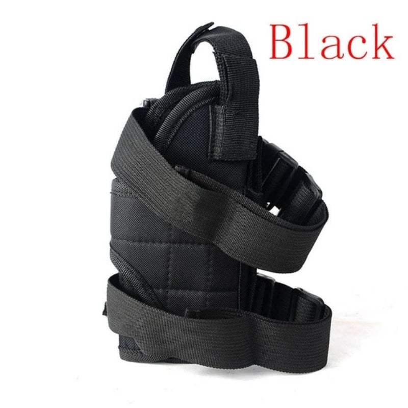 Black Universal Adjustable Tactical Gun Leg Holster