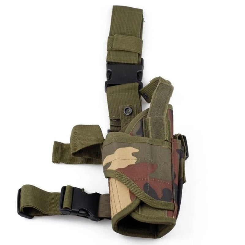 Green Camo Universal Adjustable Tactical Gun Leg Holster
