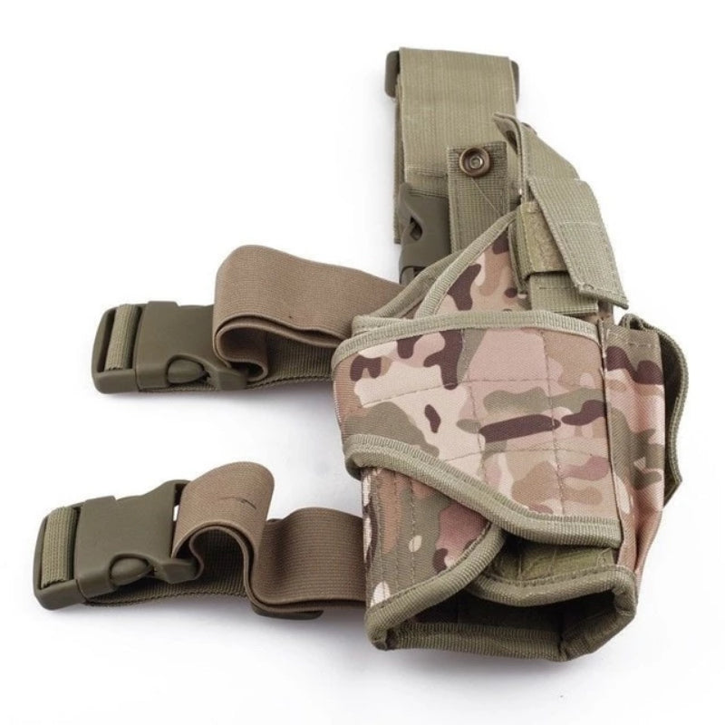 Tan Camo Universal Adjustable Tactical Gun Leg Holster