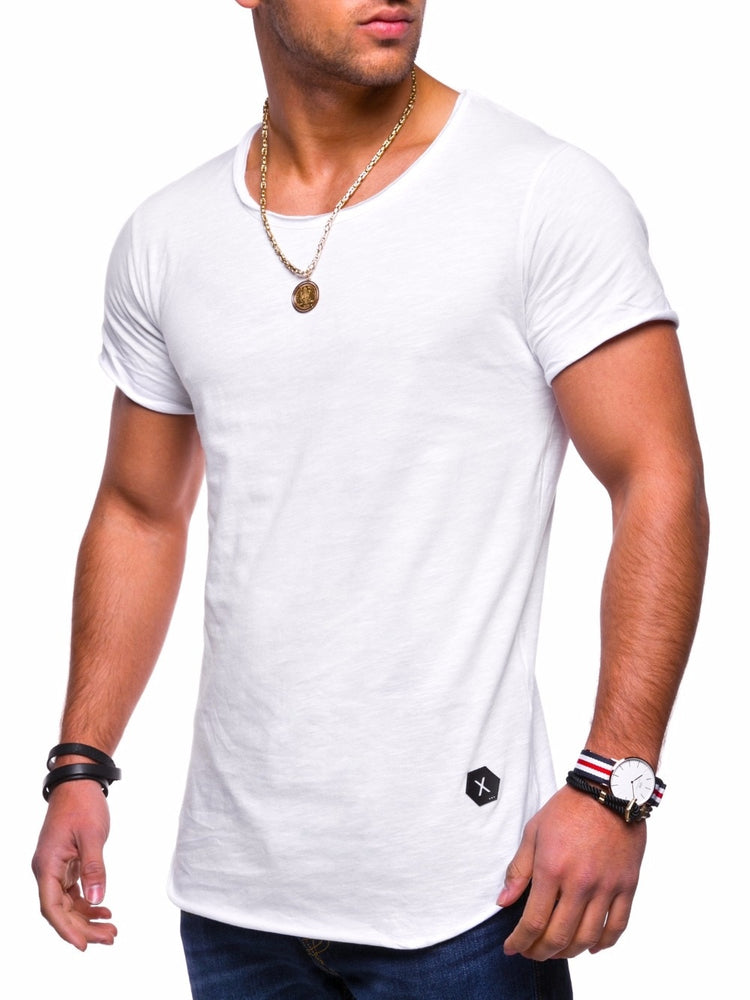 Men's Deep Short Sleeve Fitted Tee