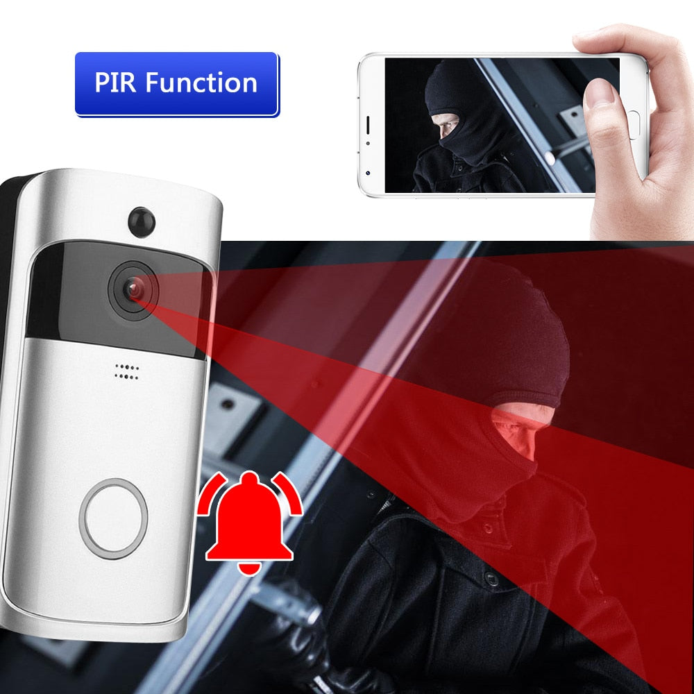 Smart Wireless Security WiFi HD 720P Surveillance Doorbell
