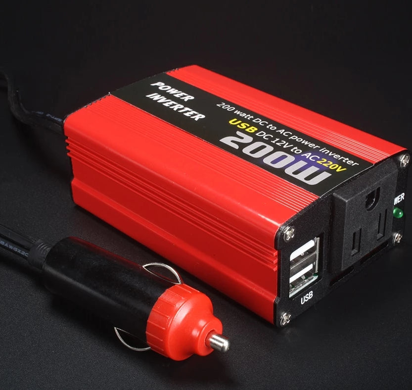 200W Car Power Inverter 12V to AC 220V