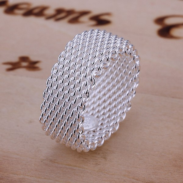 Women's 925 Sterling Silver 9mm Weave Braided Ring