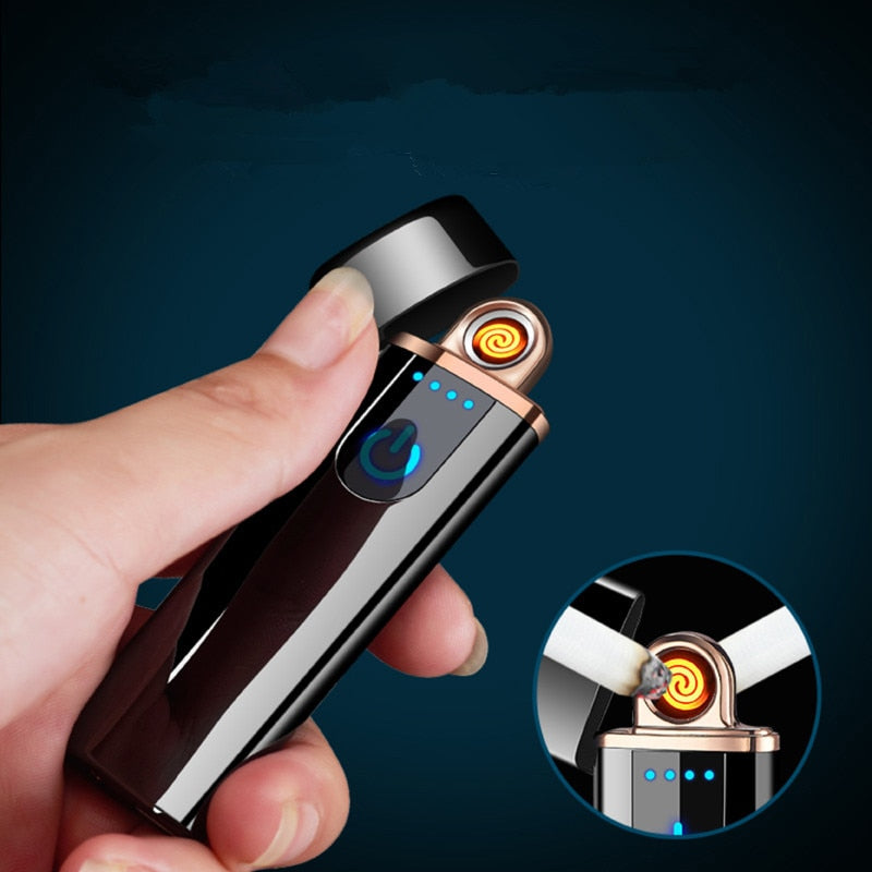 Electronic USB Rechargeable Windproof Lighter