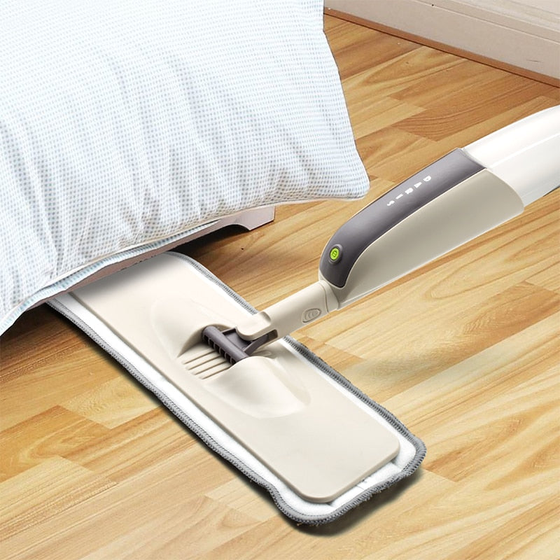 360 Degree Microfiber Spray Floor Mop with Reusable Mop Cloth