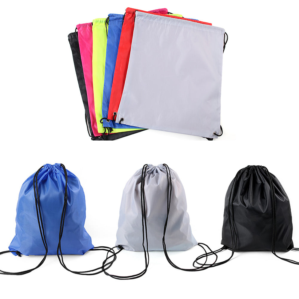 Nylon Drawstring Casual Sport Backpack