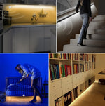 12V Cabinet Motion Sensor Night Light with Strip Lights