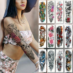 Temporary Full Sleeve Floral Decorated Waterproof Tattoo