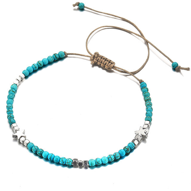 Vintage Multilayer Pendant Anklet Charms
