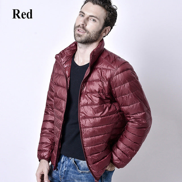 Men's Ultralight Duck Down Casual Puffer Jacket