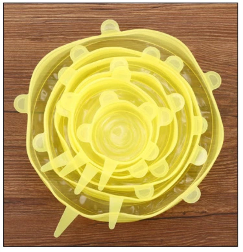 Yellow Reusable Silicone Stretch Lids