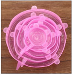 Pink Reusable Silicone Stretch Lids